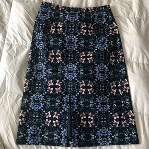 J. Crew Long Floral Pencil Skirt